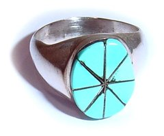 Turquoise Inlay - Sterling Silver Ring