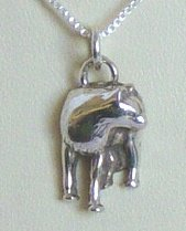 Small Wolf pendant - Sterling Silver - Pendant Only