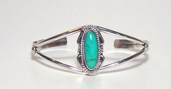 Sterling Silver Bracelet with Turquoise Stone
