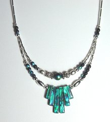 American Indian Jewelry - Sea Opal Spike Necklace