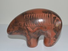Horse Hair Red Ceramic - 6 Inch Bear - Now 60% OFF