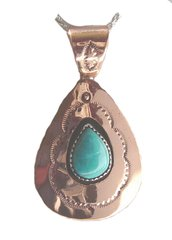 Copper with Turquoise Jewelry in Teardrop Design