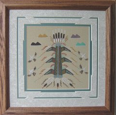"Sand painting - 14 Inch ""Adventure"" Now 75% Off"