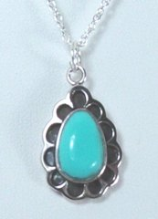 Turquoise Jewelry with Floral Design