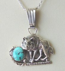 Wolf Jewelry with Turquoise