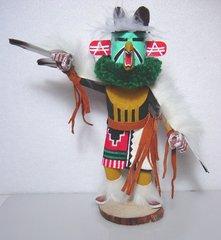 Kachina Doll - Eagle - Masked Green Collar