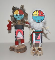 Kachina Doll - Sunface - 7 Inch - White Only