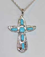 Turquoise with Sterling Silver Cross Jewelry