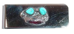 Angel Wing - Turquoise Nuggets - Money Clip