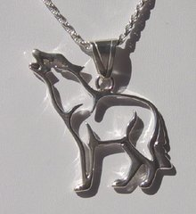 Wolf Jewelry - Silhouette Pendant in Sterling Silver