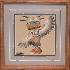 "Sand painting - 14 Inch - ""Eagle Dancer"" Now 75% Off"