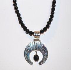 Onyx Necklace with Onyx Naja Pendant