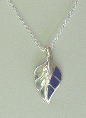 Silver Lapis Leaf design Pendant - Pendant Only