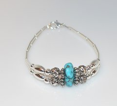 Turquoise Bracelet - Nugget and Liquid Silver