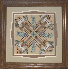"Sand Painting - 9 Inch - ""Family Gathering' Now 75% Off"