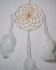 Dreamcatchers | 6 Inch | White with White Feathers