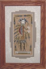 "Sand Painting - 6 Inch- ""Medicine Man"" Now 75% Off"