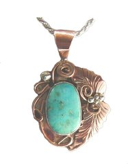 Copper & Sterling Silver Jewelry with Turquoise