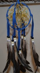 Double Dreamcatcher - 4 Inch Royal blue 3 Dimensional