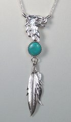 Eagle Jewelry with Turquoise and Feathers