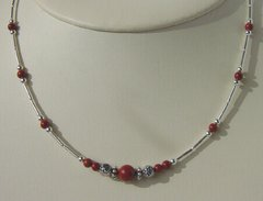 Native American Jewelry - Red Jasper Single Strand Necklace