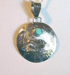 Sterling Silver Pendant with 12K Gold Filled Eagle