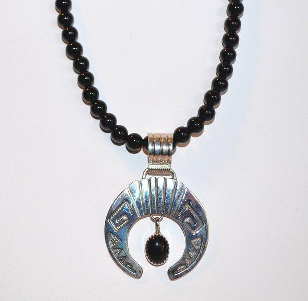 Onyx necklace with onyx naja pendant onyx necklace with onyx naja pendant aloadofball Gallery