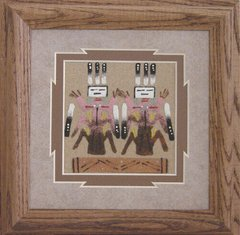 "Sand Painting - 7 Inch - ""Twins"" - Now 75% Off"
