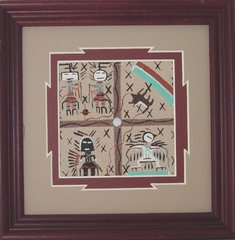 "Sand Painting -7 Inch - ""Medicine Story"" Now 75% Off"