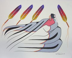 Spiritual Vision Four Feathers by Will Redbird