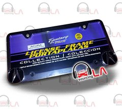 OFFICIALLY LICENSED ACURA LOGO CHROME FINISH METAL LICENSE PLATE FRAME