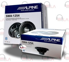 "A Pair of Alpine SWA-12S4 12"" Single 4-Ohm Type-E Series Car Subwoofer"