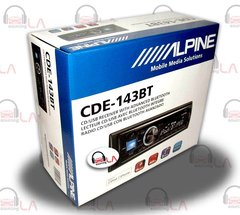 Alpine CDE-143BT In-Dash CDMP3WMAUSBiPod Car Stereo Receiver Bluetooth