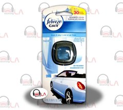 Febreze CAR Vent Clips LINEN & SKY air freshener Odor Eliminator - LOTOF8
