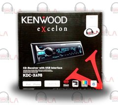 Kenwood KDC-X498 CD/MP3 Car Stereo w/ iPod, Android, Pandora Support USB