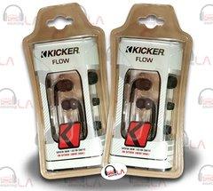 KICKER FLOW EB72 WHITE/BLACK IN-EAR EARPHONES NOISE-ISOLATING EARBUD SET OF 2