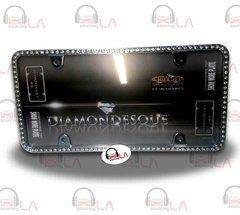 CRUISER ACCESSORIES Clear Diamondesque Black License Plate Frame CRU18130