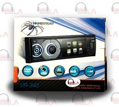 "SOUNDSTREAM VR-345 DVD/CD/MP3/SD/USB/AUX PLAYER 3.4"" DETACHABLE TFT-LCD MONITOR"