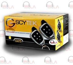 SCYTEK G25 CAR ALARM SYSTEM WITH KEYLESS ENTRY & TWO 4-BUTTON CHROME REMOTES