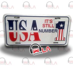 USA-Number1 Novelty Car Metal License Plate