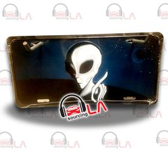 Plate Frame Alien From Space Novelty Car Metal License Plate