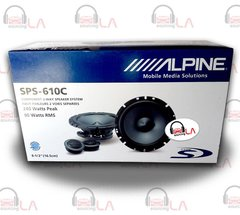 "Alpine SPS610C 6.5"" 480W 2 Way Type S Car Audio Component Speakers"