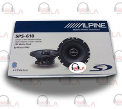 "Alpine SPS-610 2-Way 6.5"" Car Speaker"