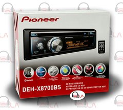 PIONEER DEH-X8700BS SINGLE DIN CD/MP3/BLUETOOTH/IPOD/PANDORA CAR STEREO