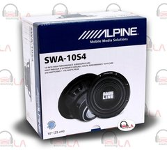 "Alpine SWA-10S4 10"" 750W 4 Ohm BASSLINE Series Car Audio Subwoofer"
