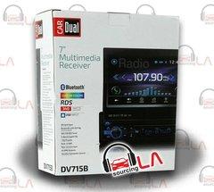"DUAL DV715B DVD/CD/MP3/WMA/JPG SINGLE DIN 7"" DISPLAY 3PR 4V PREAMP OUT W/BT"