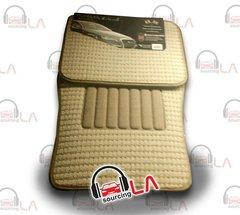 METRO BDK 4 PCS MAT CAR FLOORMATS Front and Rear Driver Passenger (Beige)
