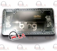 Cruiser License Plate Frame Zebra Bling Chrome Clear 18503