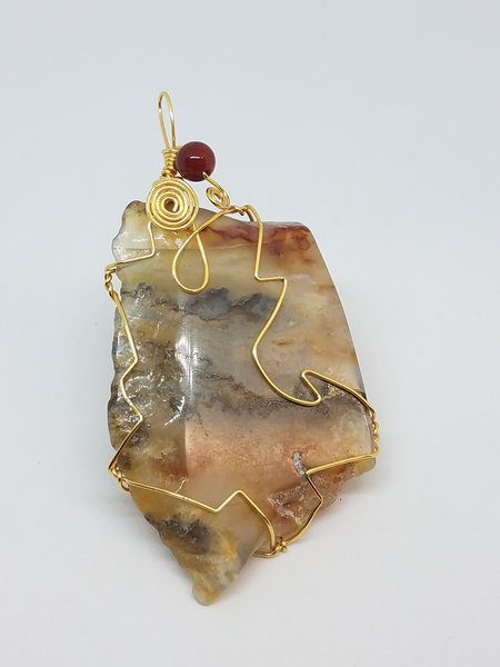 Multi Colored Agate Pendant