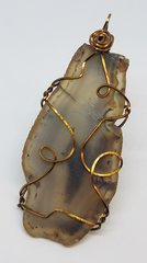 Agate Pendant matte finish bronze